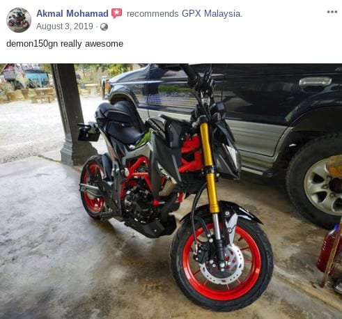 review akmal gpx demon150gn