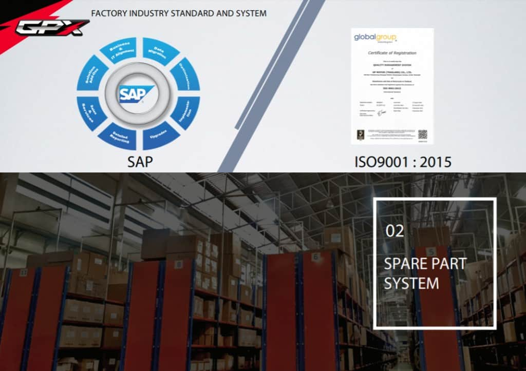 gpx SAP ISO spare part system