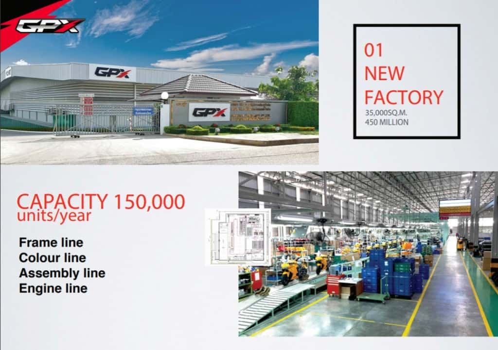 gpx new factory thailand capacity