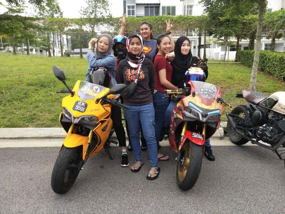 lady girl biker ride demon 150gr