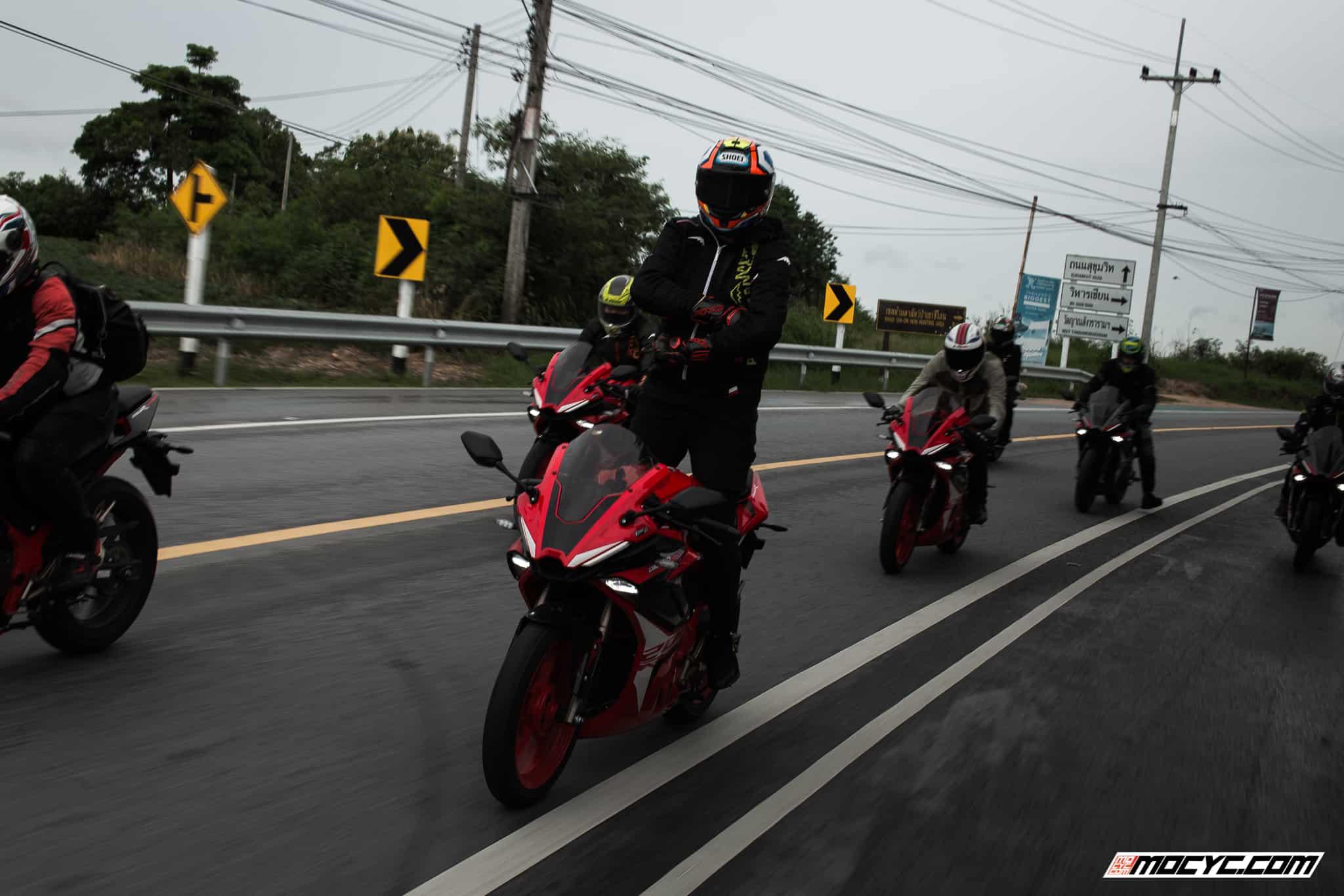 standing rider on gpx demon gr200r