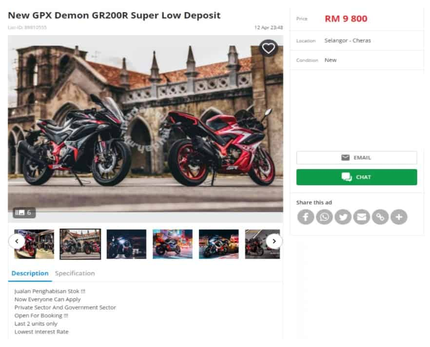 scam ads demon gr200r cheap